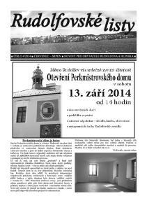 2014 ČERVENEC SRPEN NOVINY PRO OBYVATELE RUDOLFOVA A HLINSKA