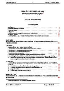 2014. évi LXXXVIII. törvény a biztosítási tevékenységről 1