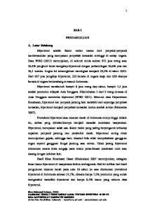 2014 GAMBARAN TINGKAT PENGETAHUAN LANSIA TENTANG HIPERTENSI DI RW 05 DESA DAYEUHKOLOT KABUPATEN BANDUNG