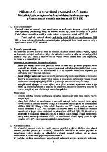 2014 Metodický pokyn tajemníka k administrativnímu postupu při pracovních cestách zaměstnanců FHS UK