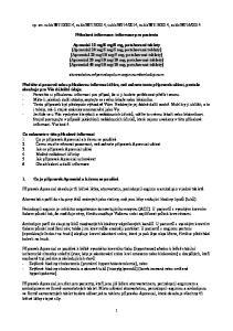 2014 Příbalová informace: informace pro pacienta