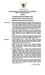 2014 TENTANG PEDOMAN PINJAM PAKAI KAWASAN HUTAN