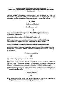 2014.(XI.12.) önkormányzati rendelete az Önkormányzat Szervezeti- és Működési Szabályzatáról