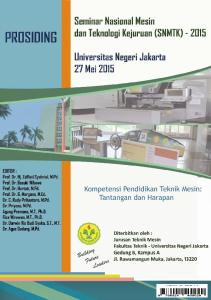 @2015 by Department of Mechanical Engineering, Faculty of Engineering State University of Jakarta ISBN :