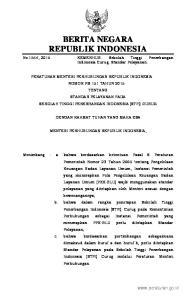2015, No Mengingat : 1. Undang-Undang Nomor 20 Tahun 1997 tentang Penerimaan Negara Bukan Pajak (Lembaran Negara Republik Indonesia Tahun 1997