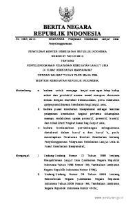 2015, No Undang-Undang Nomor 36 Tahun 2009 tentang Kesehatan Lembaran Negara Republik Indonesia Tahun 2009 Nomor 144, Tambahan Lembaran Neg