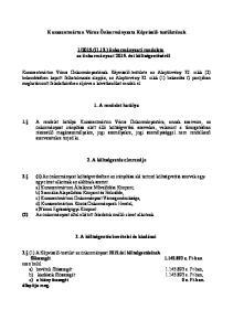 2015.(II.13.) önkormányzati rendelete az önkormányzat évi költségvetéséről