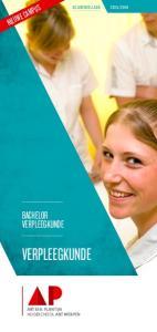 2016. bachelor. verpleegkunde. verpleegkunde. Artesis Plantijn Hogeschool Antwerpen