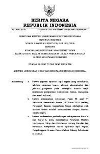 2016, No Mengingat : 1. Undang-Undang Nomor 41 Tahun 1999 tentang Kehutanan (Lembaran Negara Republik Indonesia Tahun 1999 Nomor 167, Tambahan