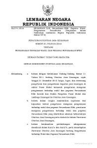 2016, No Mengingat : 1. Undang-Undang Nomor 8 Tahun 1995 tentang Pasar Modal (Lembaran Negara Republik Indonesia Tahun 1995 Nomor 64, Tambahan