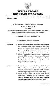 2016, No Undang-Undang Nomor 25 Tahun 2009 tentang Pelayanan Publik (Lembaran Negara Republik Indonesia Tahun 2009 Nomor 112, Tambahan Lemba