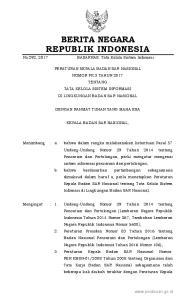 2017, No Badan SAR Nasional Nomor PK. 15 Tahun 2014 tentang Perubahan Ketiga atas Organisasi dan Tata Kerja Badan SAR Nasional (Berita Negara R