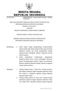 2017, No Indonesia Nomor 5607); 3. Peraturan Pemerintah Nomor 16 Tahun 1994 tentang Jabatan Fungsional Pegawai Negeri Sipil (Lembaran Negara Re