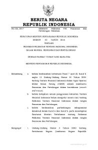 2017, No Indonesia Tahun 2002 Nomor 3, Tambahan Lembaran Negara Republik Indonesia Nomor 4169); 2. Undang-Undang Nomor 34 Tahun 2004 tentang Te