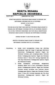 2017, No Mengingat : 1. Undang-Undang Nomor 39 Tahun 2008 tentang Kementerian Negara (Lembaran Negara Republik Indonesia Tahun 2008 Nomor 166,