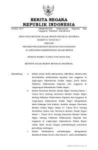 2017, No Peraturan Menteri Dalam Negeri tentang Pedoman Pelaksanaan Kegiatan dan Anggaran di Lingkungan Kementerian Dalam Negeri; Mengingat : 1