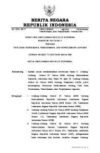 2017, No Undang Nomor 9 Tahun 2015 tentang Perubahan Kedua atas Undang-Undang Nomor 23 Tahun 2014 tentang Pemerintahan Daerah (Lembaran Negara
