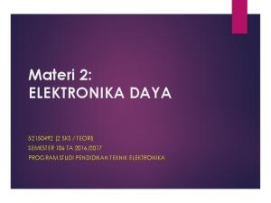 2017 PROGRAM STUDI PENDIDIKAN TEKNIK ELEKTRONIKA