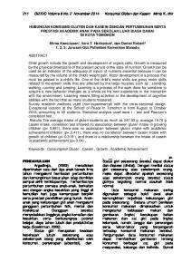211 GIZIDO Volume 6 No. 2 November 2014 Konsumsi Gluten dan Kasein Mirna K, dkk