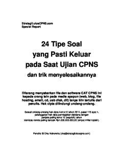 24 Tipe Soal yang Pasti Keluar pada Saat Ujian CPNS