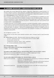 24. ZHOUBNÉ NOVOTVARY LYMFATICKÝCH TKÁNÍ (C81-85)