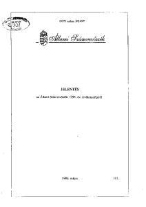 2497 JELENTÉS. az Állami Számvevőszék!995. évi tevékenységéről. !996. május 311