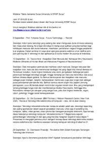 29 September - Dr. Darmawan Prasodjo - Perubahan Iklim Dalam Kerangka Tantangan Teknologi dan Ekonomi
