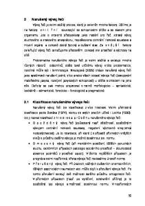 3 Narušený vývoj řeči. 3.1 Klasifikace narušeného vývoje řeči