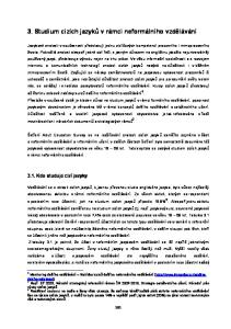 3. Studium cizích jazyků v rámci neformálního vzdělávání