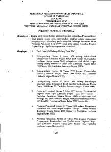 3. Undang-undang Nomor 22 Tahun 1999 tentang Pemerintahan Daerah (Lembaran Negara Tahun 1999 Nomor 60, Tambahan Lembaran Negara Nomor 3839);