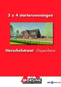 3 x 4 starterswoningen. Herschelstraat - Diepenheim