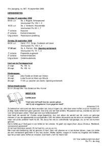 31e Jaargang, no. 967, 19 september 2008 KERKDIENSTEN