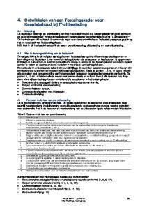 4. Ontwikkelen van een Toetsingskader voor Kennisbehoud bij IT-uitbesteding