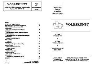 4264 Instituut Voor Vlaamse Volkskunst Rek Nr Vlaams Dansarchief