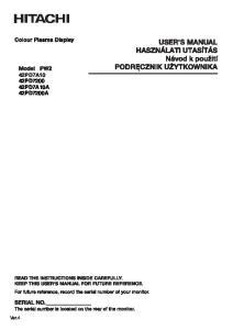 42PD PD7A10A 42PD7200A