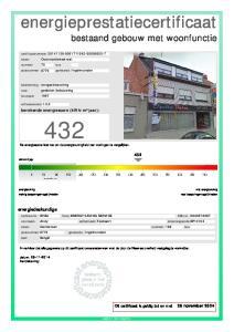 432 De energiescore laat toe om de energiezuinigheid van woningen te vergelijken