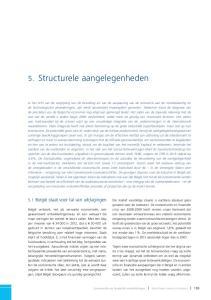 5. Structurele aangelegenheden