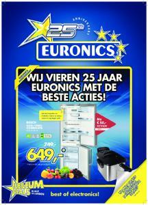 649,- WIJ VIEREN 25 JAAR EURONICS MET DE BESTE ACTIES! 749,- best of electronics! NU MET GRATIS INVENTUM FRITEUSE T.W.V. 39,95!*