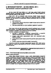 9 METODICKÉ POKYNY AD HOC MODUL 2011: Zaměstnávání zdravotně postižených osob