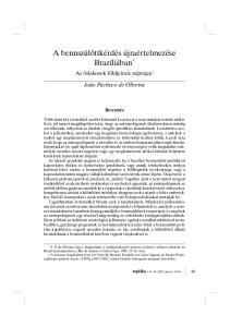 A bennszülöttkérdés újraértelmezése Brazíliában *