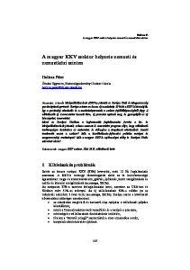 A magyar KKV szektor helyzete nemzeti és nemzetközi szinten