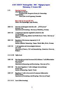 A MIT XXXIV. Vándorgyűlése 2004 Végleges program Wednesday, 27 October 2004