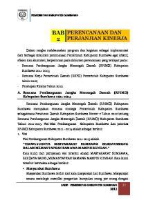 A. Rencana Pembangunan Jangka Menengah Daerah (RPJMD) Kabupaten Sumbawa