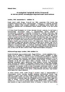 A szolgálati helyéről eltűnt hírszerző Az USA-ban politikai menedékjogért folyamodó Szabó László története