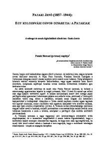 A szöveget és annak digitalizálását ellenőrizte: Gazda István. Pataki Sámuel (primus) naplója 1