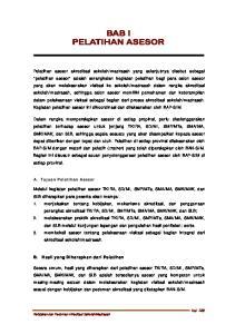 A. Tujuan Pelatihan Asesor