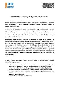 A XXXII. OTDK Orvos- és Egészségtudományi Szekció szakmai beszámolója