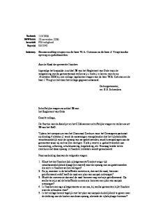 Aan de Raad der gemeente Haarlem. Schriftelijke vragen ex artikel 38 van het Reglement van Orde. Naar aanleiding daarvan de volgende vragen: