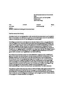 Aan de Staatssecretaris van Economische Zaken Mevrouw ir. C.E.G. van Gennip MBA Postbus EC Den Haag