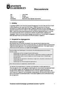 Aan : Leden Raad Van : College Datum : 14 april 2015 Onderwerp : Voorstellen bezuinigingen op personeel